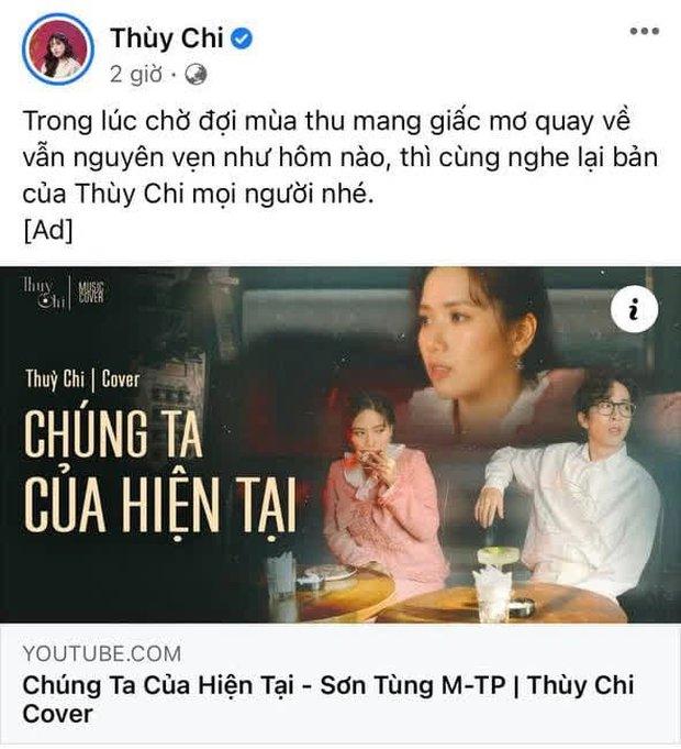 Giữa lúc MV của Sơn Tùng bay màu, Thuỳ Chi bị chỉ trích kém duyên khi đăng lại clip cover Chúng Ta Của Hiện Tại - Ảnh 1.