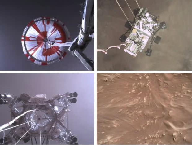 NASA công bố video nổi da gà của tàu đổ bộ xuống sao Hoả - Ảnh 1.