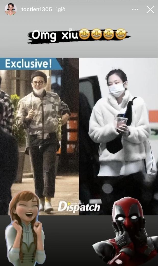 Tóc Tiên nghe tin G-Dragon hẹn hò, chấn động đến nỗi muốn đình công chuyện bếp núc, dán mắt vào tivi và nghe nhạc oppa - Ảnh 1.