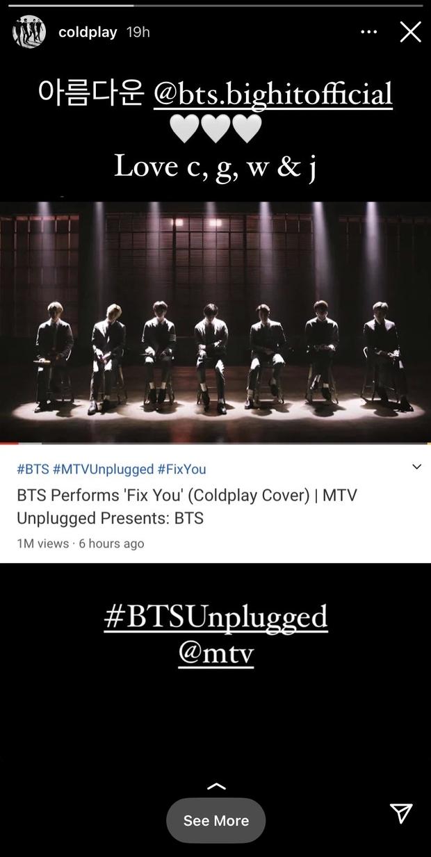BTS được khen nức nở khi cover bản hit huyền thoại của Coldplay, chính chủ nổi tiếng khó tính cũng phản ứng bất ngờ - Ảnh 5.
