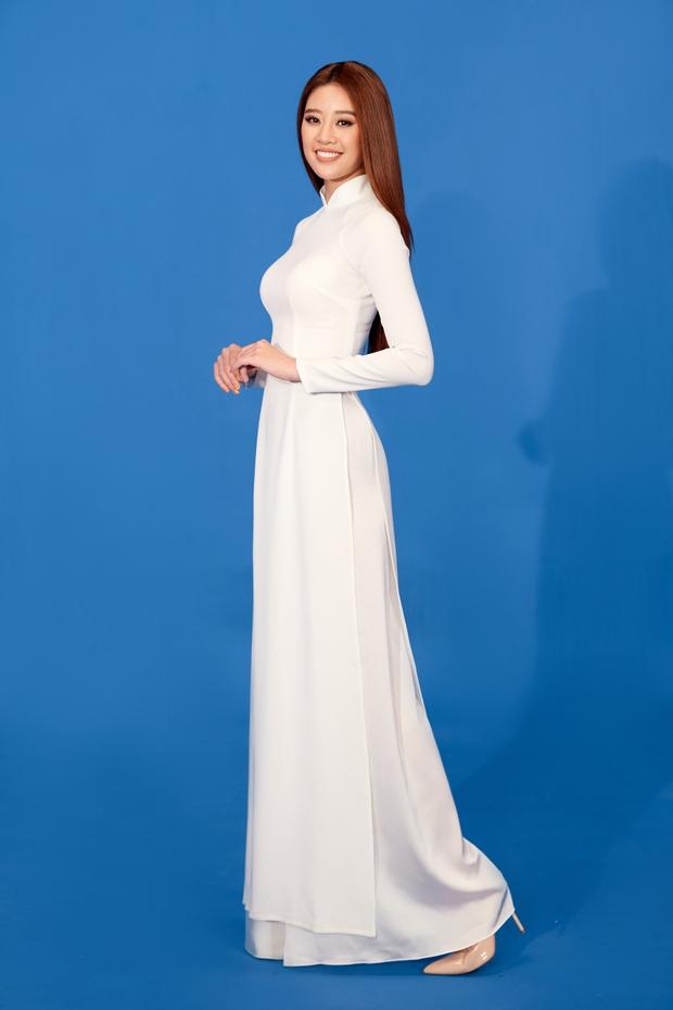 Hoa hậu Khánh Vân mang áo dài, đồ bảo hộ vào hình hiệu Road To Miss Universe 2020 - Ảnh 5.