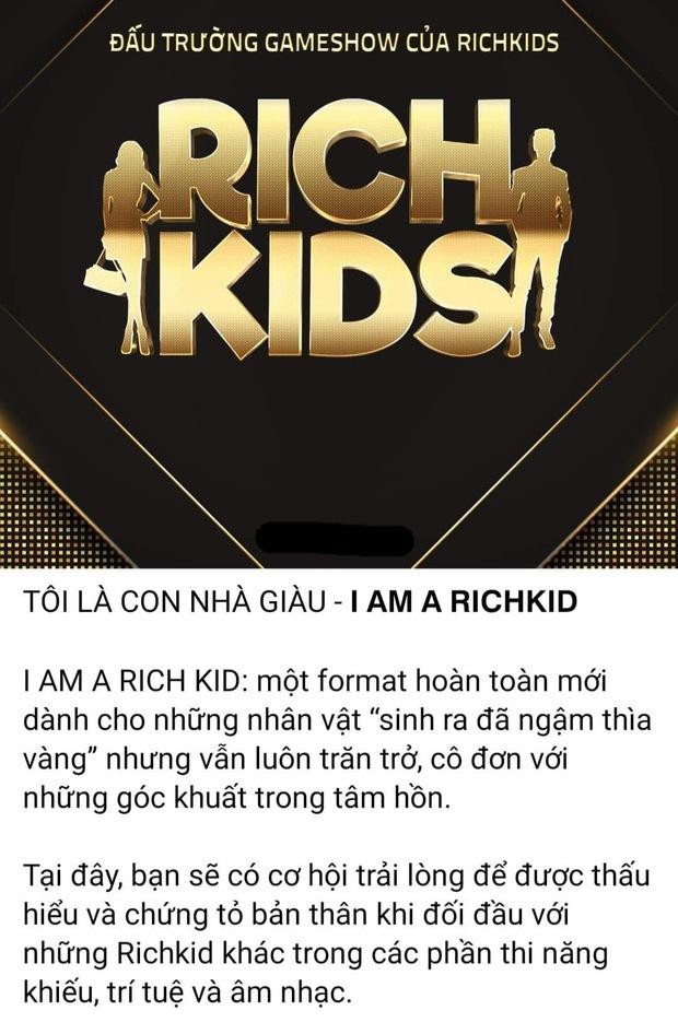 Xuất hiện gameshow về Rich Kids Việt: Tưởng so độ giàu nhưng thực tế lại hoàn toàn khác! - Ảnh 1.