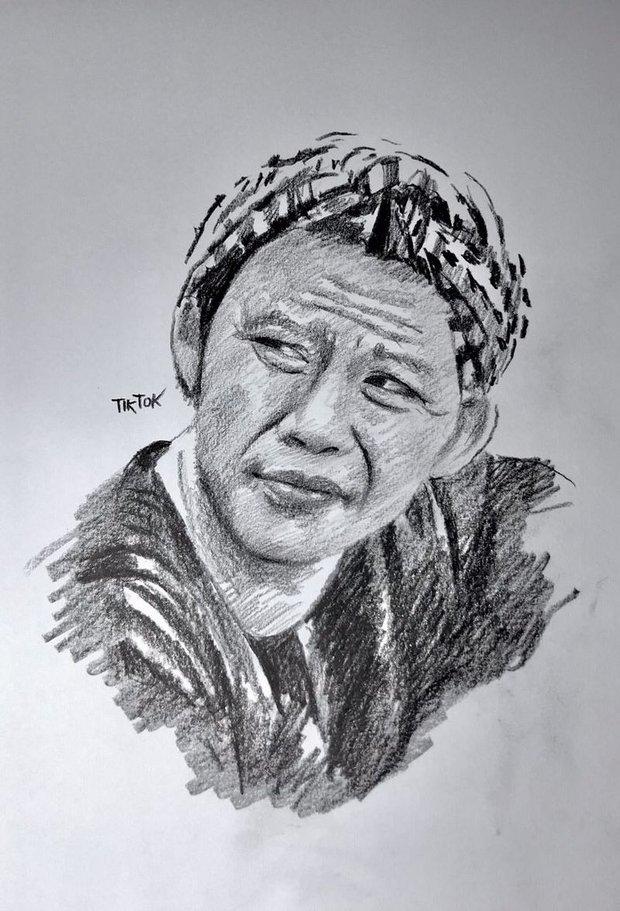 Anh chàng hoạ sĩ hot TikToker vẽ tặng bố Hoài Linh, sau 1 ngày thu về lượt view và tương tác siêu khủng - Ảnh 6.