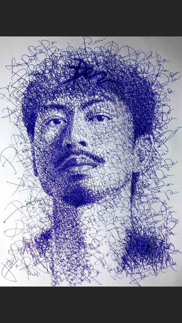 Anh chàng hoạ sĩ hot TikToker vẽ tặng bố Hoài Linh, sau 1 ngày thu về lượt view và tương tác siêu khủng - Ảnh 7.