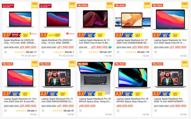 Mua MacBook trên các sàn thương mại điện tử, khuyến mãi giảm nhiều nhưng có rẻ hơn tại các cửa hàng bán lẻ? - Ảnh 2.