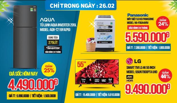 Loạt deal sale cực ngon tại các siêu thị điện máy trong hôm nay: Giảm tới 50% từ tủ lạnh đến tivi - Ảnh 3.