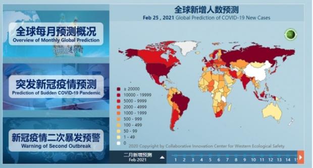 Trung Quốc pháttriển hệ thống dự báo Covid-19 toàn cầu đầu tiên trên thế giới - Ảnh 1.