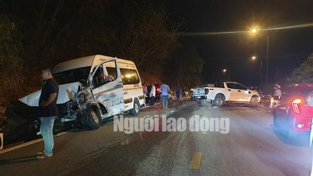 Tai nạn liên hoàn trên đèo Bảo Lộc, nhiều người bị thương - Ảnh 1.