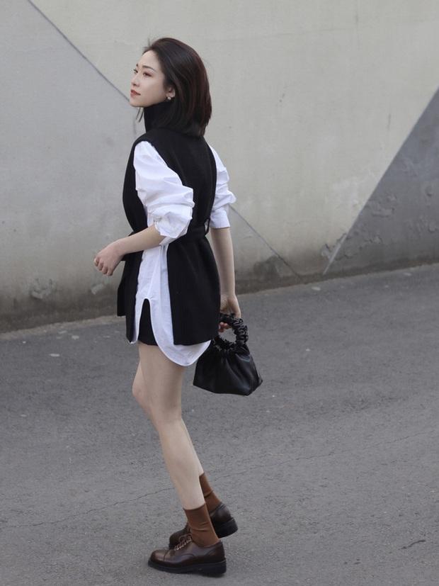 Street style Châu Á: Nhiều màu sắc xuống phố nhưng bất ngờ nhất là màn khoe eo mỏng dính của cô nàng váy cam - Ảnh 10.