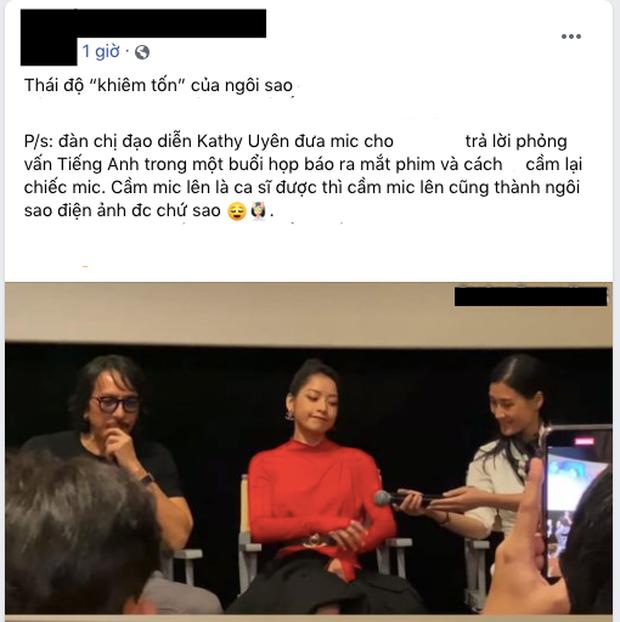 Dân mạng tranh cãi khoảnh khắc Chi Pu nhận mic từ đàn chị Kathy Uyên bằng 1 tay - Ảnh 3.