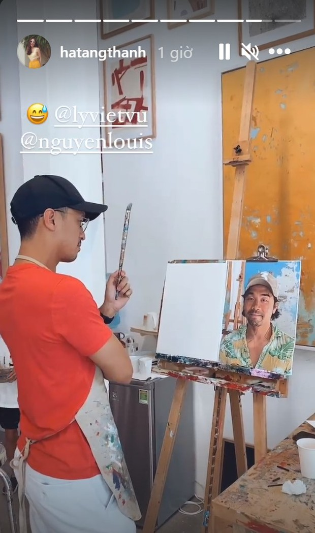 Hà Tăng cùng cả gia đình đi học vẽ, nhìn đến thành phẩm của Louis Nguyễn mới té ngửa - Ảnh 3.