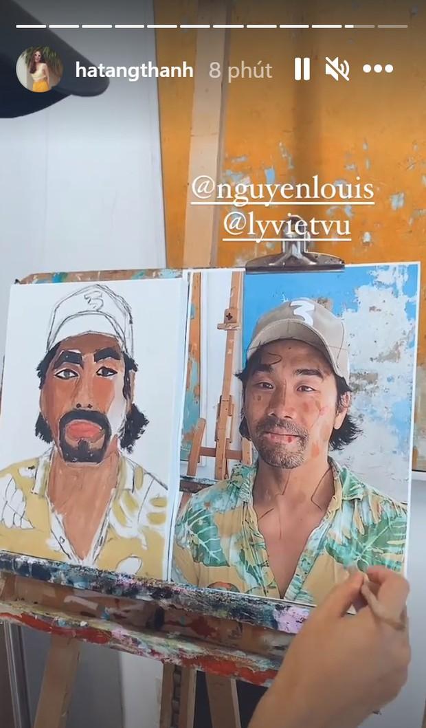Hà Tăng cùng cả gia đình đi học vẽ, nhìn đến thành phẩm của Louis Nguyễn mới té ngửa - Ảnh 4.