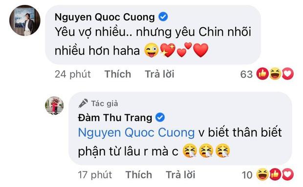 """Đàm Thu Trang khoe biểu cảm """"cưng xỉu"""" của ái nữ, Cường Đô La chốt hạ 2 chữ là biết vị trí của mẹ bỉm trong nhà! - Ảnh 5."""