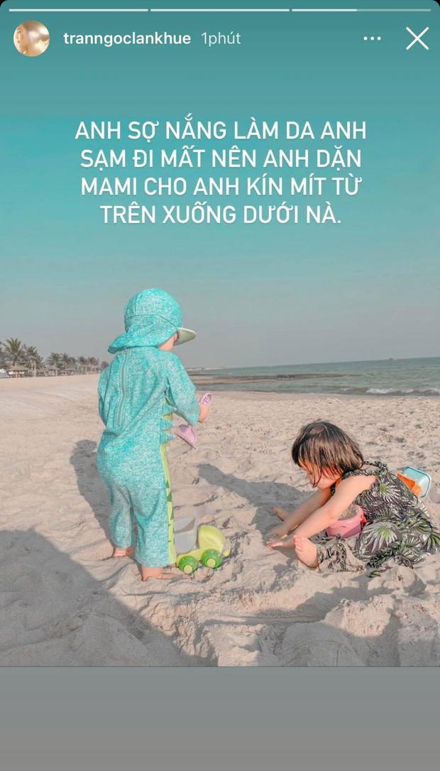 Người chơi hệ điệu từ bé gọi tên quý tử nhà Lan Khuê: Trùm như ninja ra biển, nghe lí do đằng sau mới ngã ngửa - Ảnh 3.