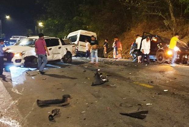 Vụ tai nạn liên hoàn trên đèo Bảo Lộc: Công an làm việc với 6 tài xế - Ảnh 1.