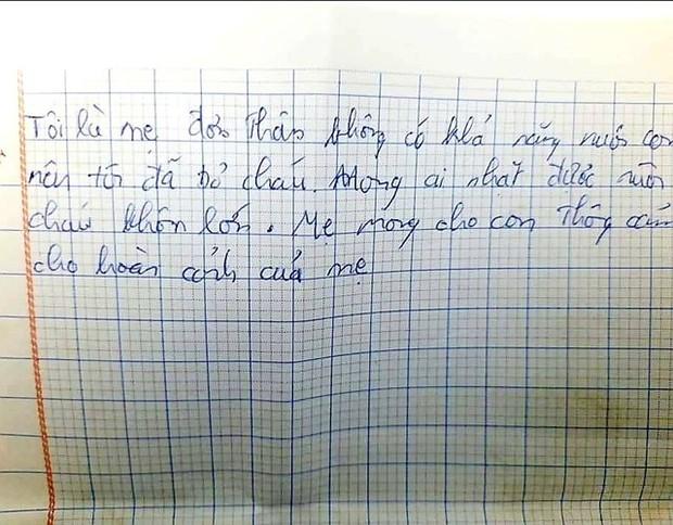 Bé gái sơ sinh còn nguyên dây rốn bị bỏ rơi trong thùng carton kèm bức thư: Mong con thông cảm cho hoàn cảnh của mẹ - Ảnh 3.