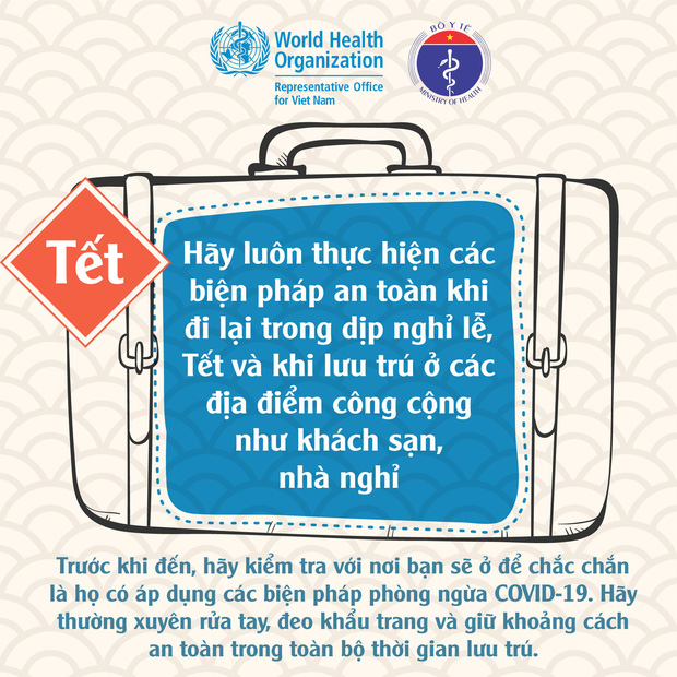 WHO, Bộ Y tế khuyến cáo người dân cách đón Tết an toàn trong đại dịch Covid-19 - Ảnh 4.
