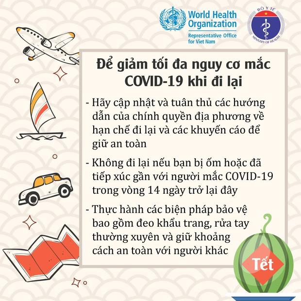 WHO, Bộ Y tế khuyến cáo người dân cách đón Tết an toàn trong đại dịch Covid-19 - Ảnh 3.