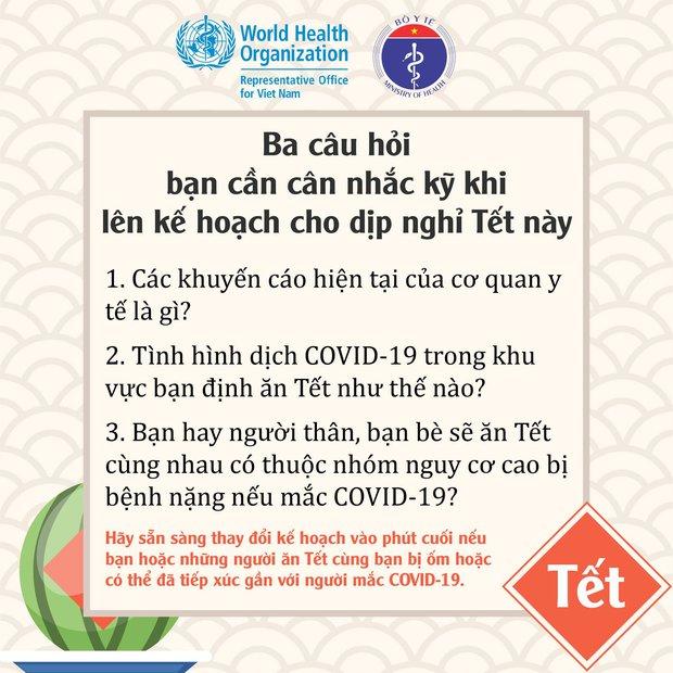 WHO, Bộ Y tế khuyến cáo người dân cách đón Tết an toàn trong đại dịch Covid-19 - Ảnh 2.