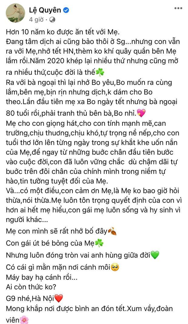 Vừa công khai hẹn hò, Lệ Quyên đã đưa Lâm Bảo Châu về ra mắt gia đình và cùng đón Tết 2021? - Ảnh 2.
