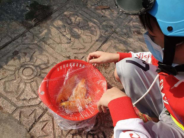 Người Sài Gòn chen chân thả cá chép trên kênh Nhiêu Lộc - Thị Nghè, tiễn ông Công ông Táo về trời ngày 23 tháng Chạp - Ảnh 4.