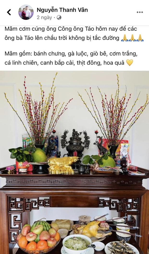 Sao Vbiz tất bật cúng ông Công ông Táo: Thu Minh - Tự Long dâng mâm cỗ thịnh soạn, trầm trồ tay nghề của Văn Mai Hương - Tường San - Ảnh 10.