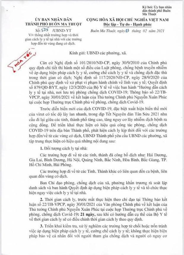 Xôn xao công văn cách ly công dân từ TP HCM, Bình Dương về quê ăn Tết - Ảnh 1.