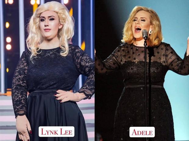 Lynk Lee gây choáng khi hóa thân thành Adele phiên bản lỗi với đôi tay không hề giả trân - Ảnh 1.