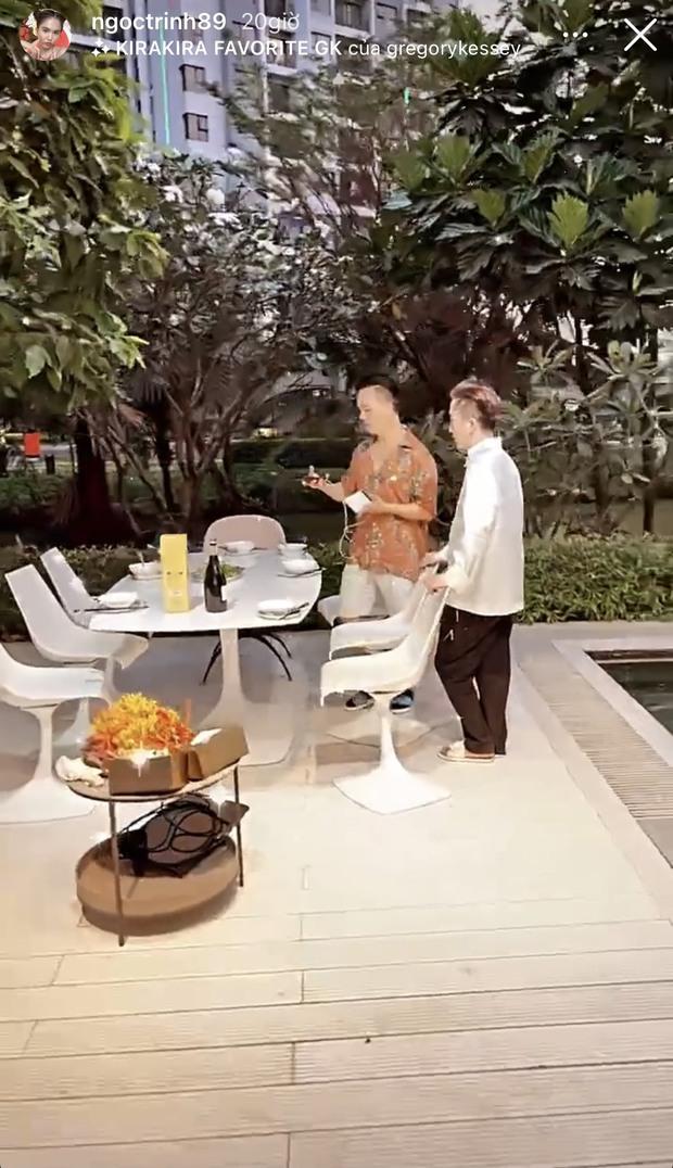 Tiệc tất niên hoành tráng tại siêu biệt thự 40 tỷ của Ngọc Trinh: ăn uống tưng bừng, vui quên lối về - Ảnh 3.