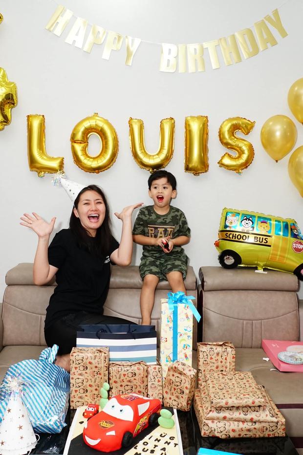 Ngọc Lan lẻ bóng tổ chức sinh nhật quý tử, Thanh Bình vắng mặt nhưng có hành động đặc biệt dành cho bé - Ảnh 3.