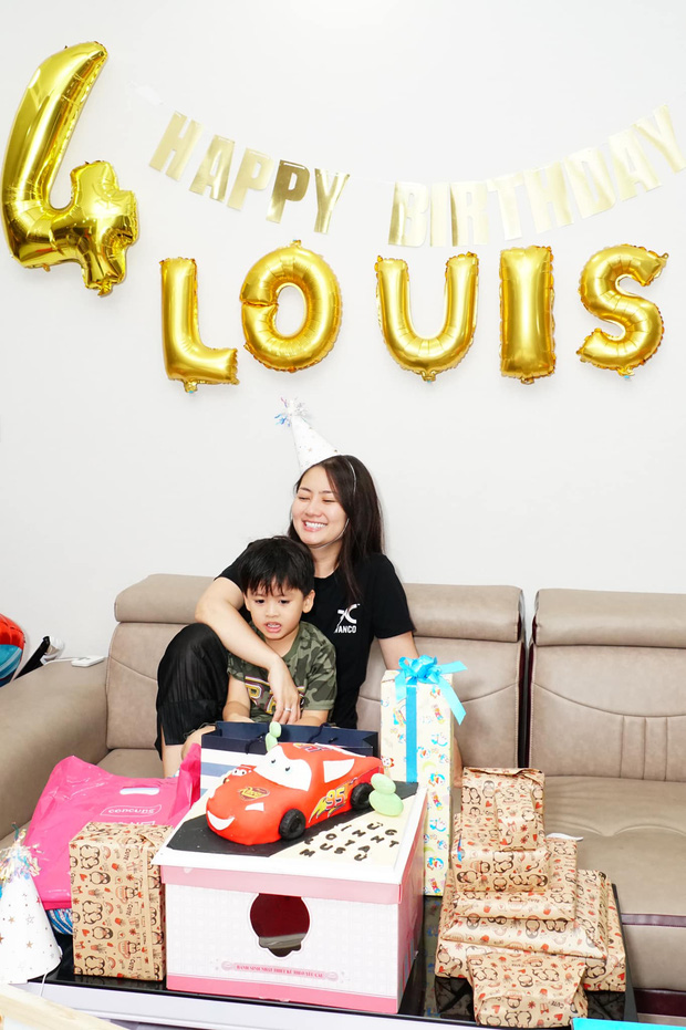 Ngọc Lan lẻ bóng tổ chức sinh nhật quý tử, Thanh Bình vắng mặt nhưng có hành động đặc biệt dành cho bé - Ảnh 4.