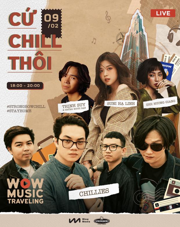Tối 28 Tết dọn nhà xong xuôi, chill trong âm nhạc live acoustic với Suni Hạ Linh, Chillies, Thịnh Suy và Gigi Hương Giang là chuẩn nhất! - Ảnh 4.