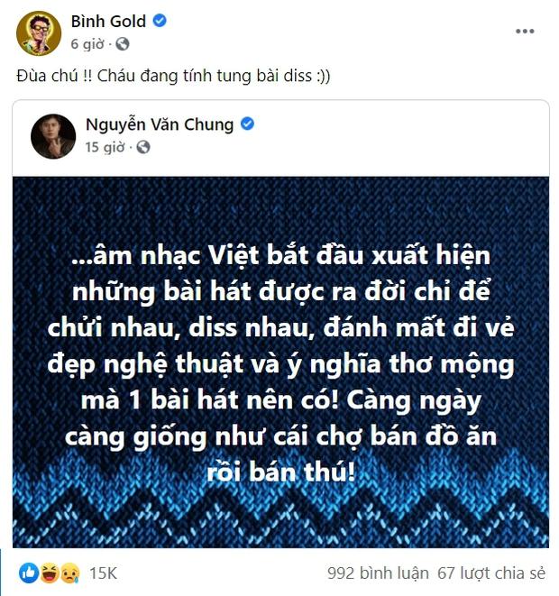 Bình Gold và RichChoi có phản ứng sau bài đăng bức xúc của nhạc sĩ Nguyễn Văn Chung, sắp có bản rap diss các streamer rồi? - Ảnh 4.