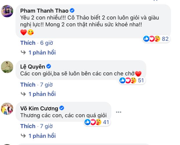 Vợ cũ Vân Quang Long hé lộ kết quả học tập khủng của 2 con, hình ảnh bé út cầm giấy khen trước bàn thờ bố khiến dàn sao Việt xúc động - Ảnh 6.