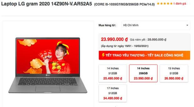 5 mẫu laptop tầm 20 - 25 triệu đồng đang được giảm giá tốt dịp Tết - Ảnh 3.