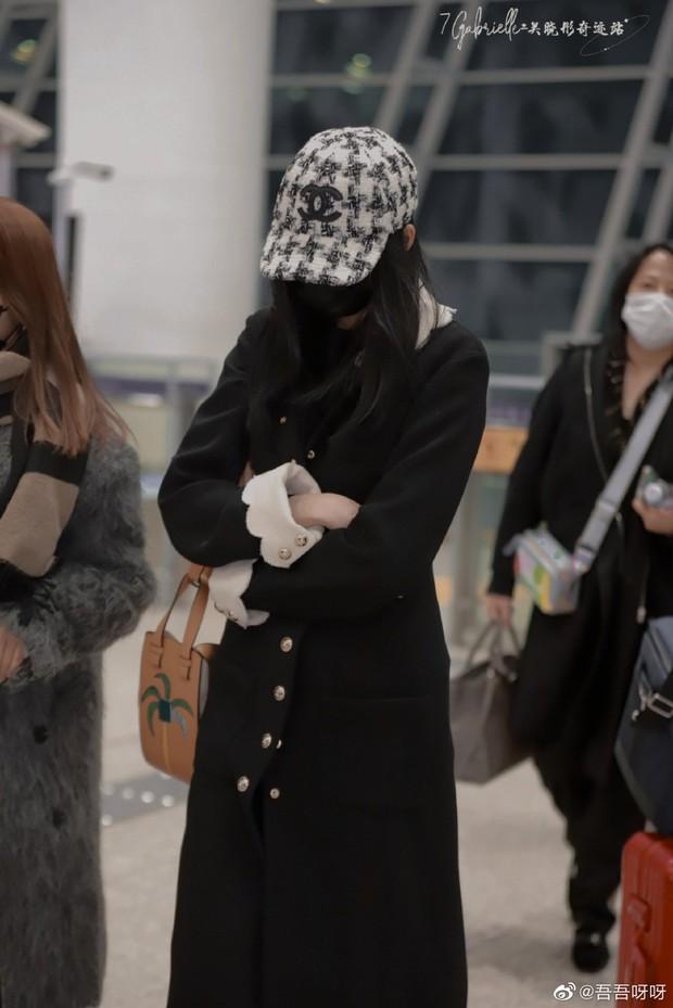 """Lấn át cả Jennie và Tống Thiến về độ """"bạo chi"""", Quan Hiểu Đồng diện hẳn áo Chanel 200 triệu ra sân bay - Ảnh 2."""