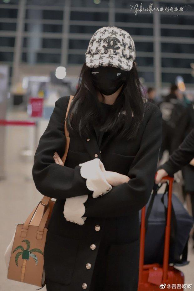 """Lấn át cả Jennie và Tống Thiến về độ """"bạo chi"""", Quan Hiểu Đồng diện hẳn áo Chanel 200 triệu ra sân bay - Ảnh 1."""