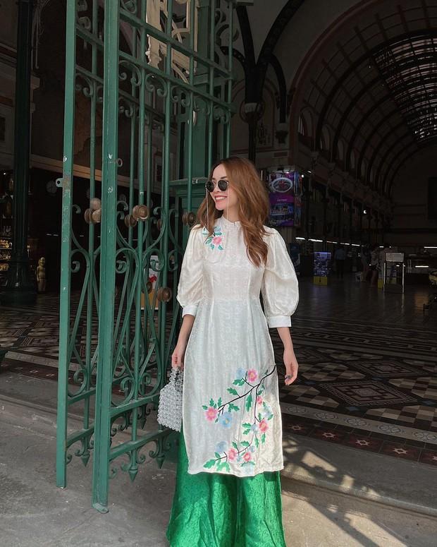 1001 sắc thái áo dài của mỹ nhân Việt ngày cận Tết, từ cách tân mới mẻ đến truyền thống đều có đủ - Ảnh 5.