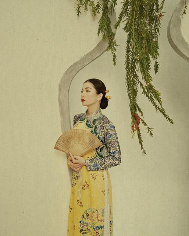 1001 sắc thái áo dài của mỹ nhân Việt ngày cận Tết, từ cách tân mới mẻ đến truyền thống đều có đủ - Ảnh 2.