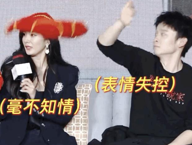 Mải nói chuyện, Dương Mịch hốt hoảng vì bị đồng nghiệp nhỡ tay phi khăn vào mặt trên show Tết - Ảnh 5.