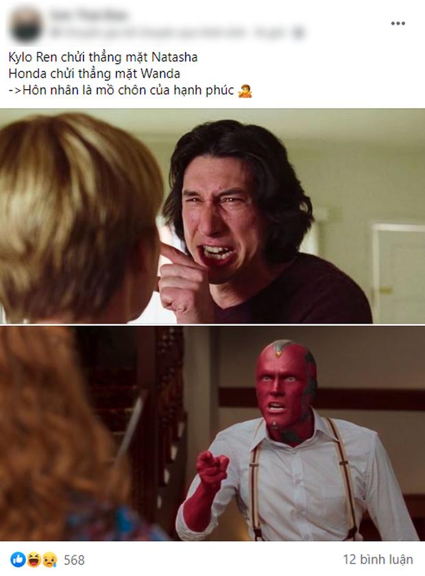 WandaVision tập 5 nóng hừng hực làm netizen dậy sóng, chế ảnh lia lịa về tình người duyên ma nhà Marvel vừa hài vừa rợn - Ảnh 7.