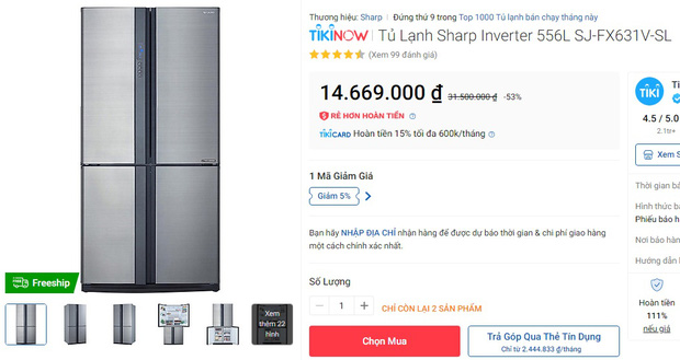 Từ 5,9 triệu sắm tủ lạnh cỡ vừa nhưng trữ đồ đáng nể cho Tết này - Ảnh 17.