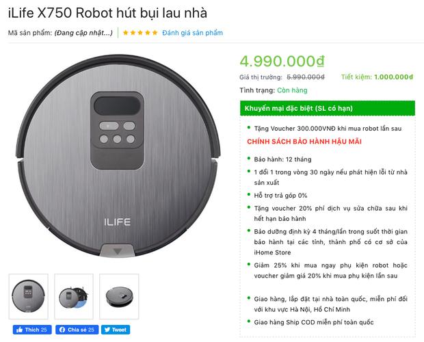 Loạt robot hút bụi giảm giá sâu chỉ còn dưới 5 triệu đồng đang bán siêu chạy dịp Tết - Ảnh 3.