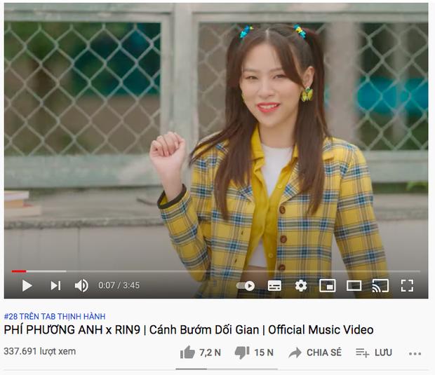 Sau 12 giờ lên sóng, MV của Phí Phương Anh nhận dislike gấp đôi lượt like nhưng so với bài debut vẫn chưa xi nhê - Ảnh 3.