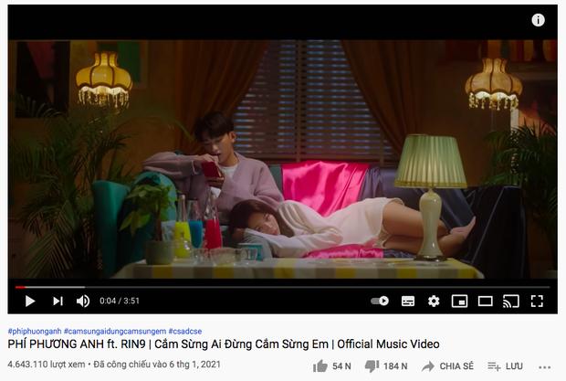 Sau 12 giờ lên sóng, MV của Phí Phương Anh nhận dislike gấp đôi lượt like nhưng so với bài debut vẫn chưa xi nhê - Ảnh 4.