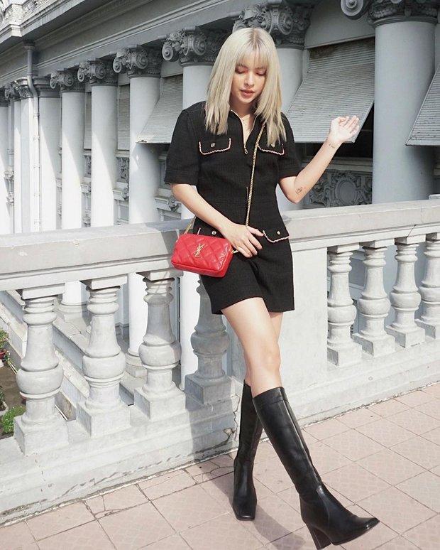 """Instagram look của sao Việt ngày cận Tết: Kỳ Duyên lên đồ """"chất chơi"""", Xoài Non diện váy xẻ cao hiểm hóc - Ảnh 6."""