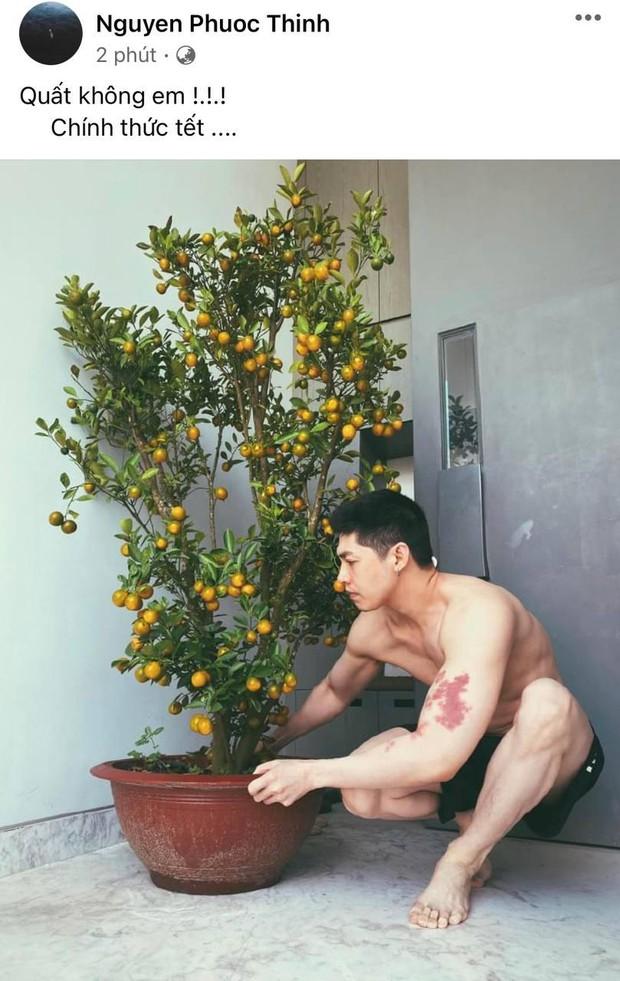 """Noo phô diễn body """"trá hình"""" qua ảnh khoe cây cận ngày Tết, chú thích kèm theo còn khiến netizen đỏ mặt hơn - Ảnh 2."""