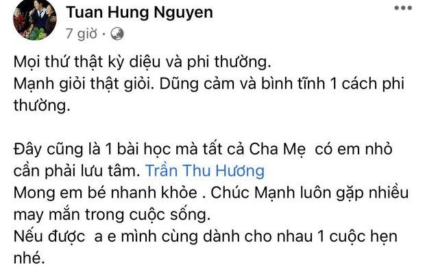 """Hoà Minzy và dàn sao Việt dậy sóng trước vụ """"người hùng"""" cứu bé gái rơi từ tầng 12, Tuấn Hưng nhân đây dặn dò luôn bà xã - Ảnh 4."""