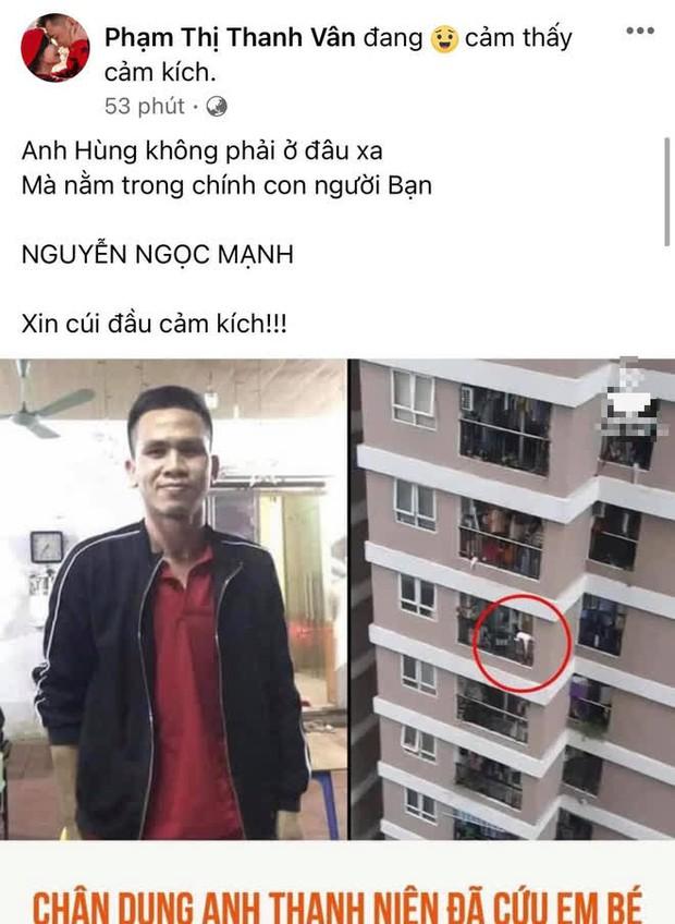 """Hoà Minzy và dàn sao Việt dậy sóng trước vụ """"người hùng"""" cứu bé gái rơi từ tầng 12, Tuấn Hưng nhân đây dặn dò luôn bà xã - Ảnh 7."""