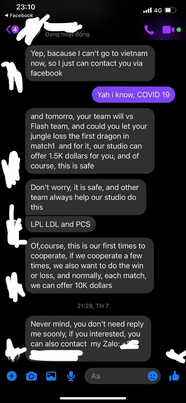 Nóng: Đội tuyển VCS bị kẻ xấu gạ bán độ, cả trăm triệu đồng chỉ để thua 1 trận - Ảnh 2.